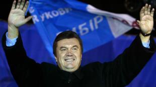 Viktor Ianoukovitch lors d'un rassemblement politique en 2004