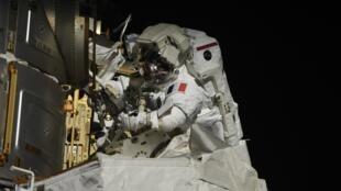 Pesquet spacewalk from Pesquet Twitter