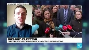 "2020-02-09 13:05 Connal Parr on France 24: ""This election is a major realignment of Irish politics"""