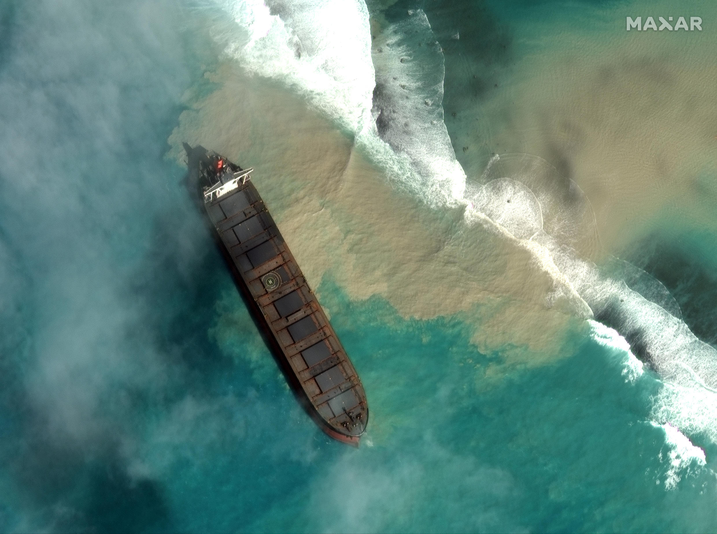 The bulk carrier MV Wakashio ran aground on July 25, but it was not until several days before the Mauritian authorities noticed that tons of oil