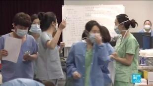 2020-02-27 17:02 Coronavirus en Corée : les hôpitaux débordent dans le second foyer de contamination mondial