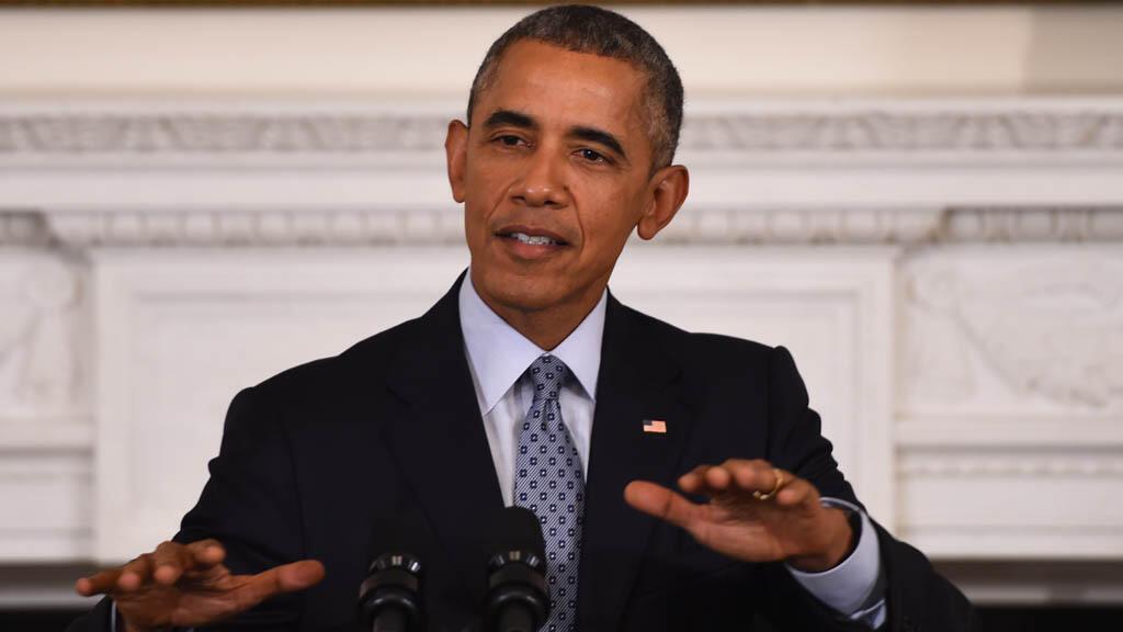 Le président américain a mis en garde Vladimir Poutine au sujet de sa politique de frappes en Syrie, le 2 octobre 2015.