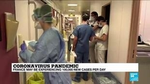 2020-10-26 13:01 France daily infection feared at 100,000, double official tally