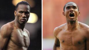 L'Ivoirien Didier Drogba et le Camerounais Samuel Eto'o.
