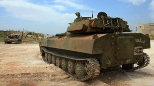 Un char de l'armée syrienne prend position au sud de la ville d'Alep, le 11 avril dernier.