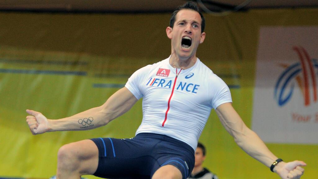 Le perchiste Renaud Lavillenie lors des championnats d'Europe en salle, le 7 mars 2015 à Prague.