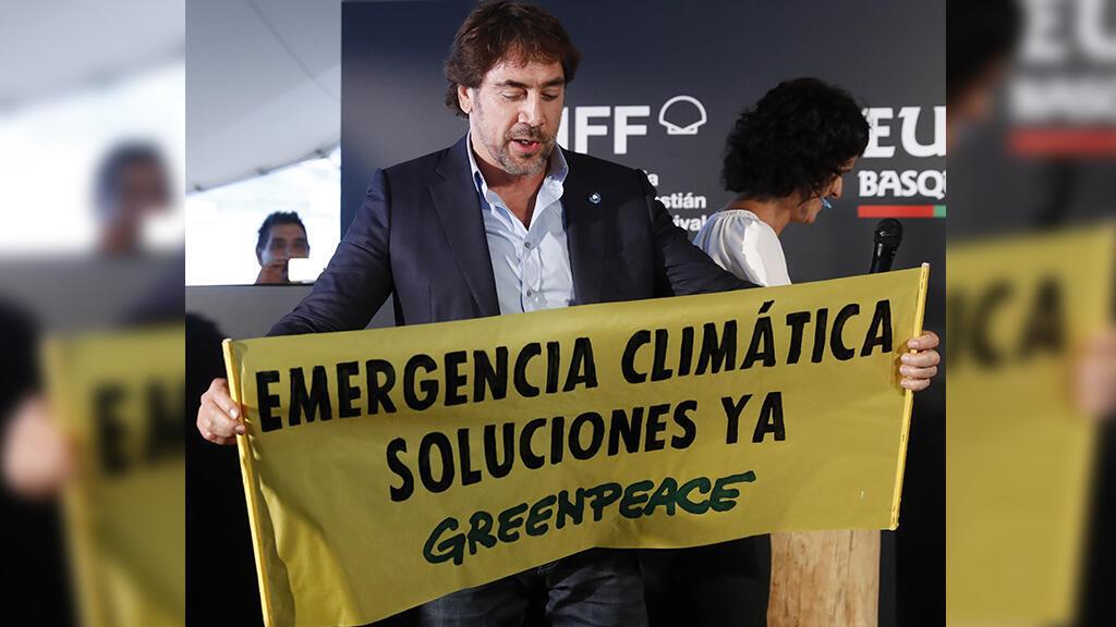 El actor Javier Bardem aprovechó su presencia en el Festival de San Sebastián para manifestarse en la jornada del 27 de septiembre de Viernes por el Futuro.