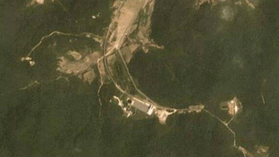 Imagen satelital tomada en la base de lanzamiento de satélites en Sohae, Corea del Norte. Tomadas entre el 22 de junio y el 22 de julio de 2018.