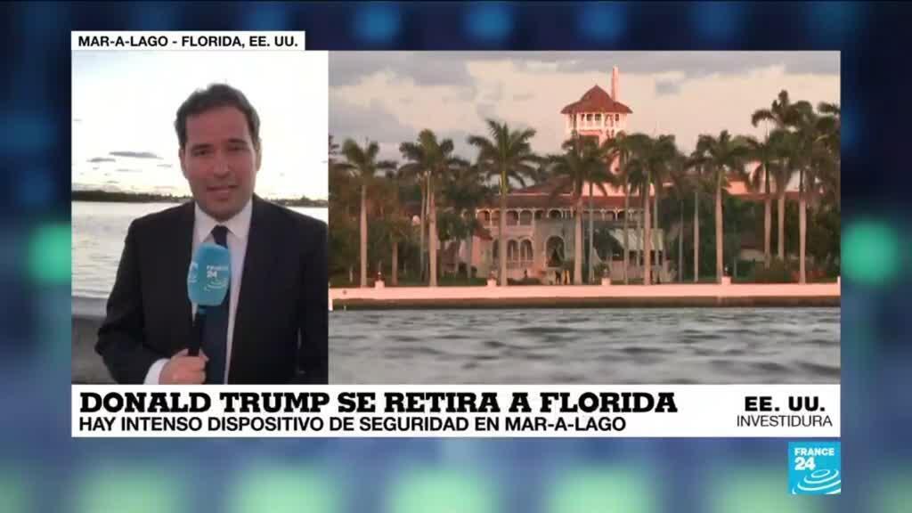 2021-01-20 13:37 Informe desde Mar-a-Lago: Donald Trump se retira a su residencia en Florida