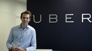 Thibaud Simphal, directeur général d'Uber France, dans les locaux parisiens de la compagnie, le 19 mai 2015.