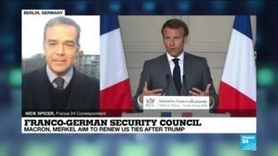 2021-02-05 10:03 France's Macron, Germany's Merkel meet in security council aiming to renew ties in post-Trump era