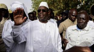 Le président sortant du Sénégal Macky Sall a été réélu.