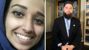 Hoda Muthana (à gauche) veut rentrer aux États-Unis. Elle est défendue par son avocat Hassan Shibly (à droite).