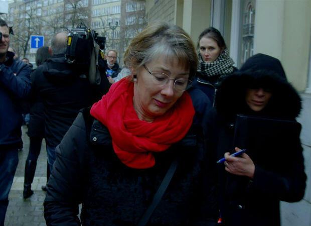 Anne Gruwez, dans les rues de Bruxelles.