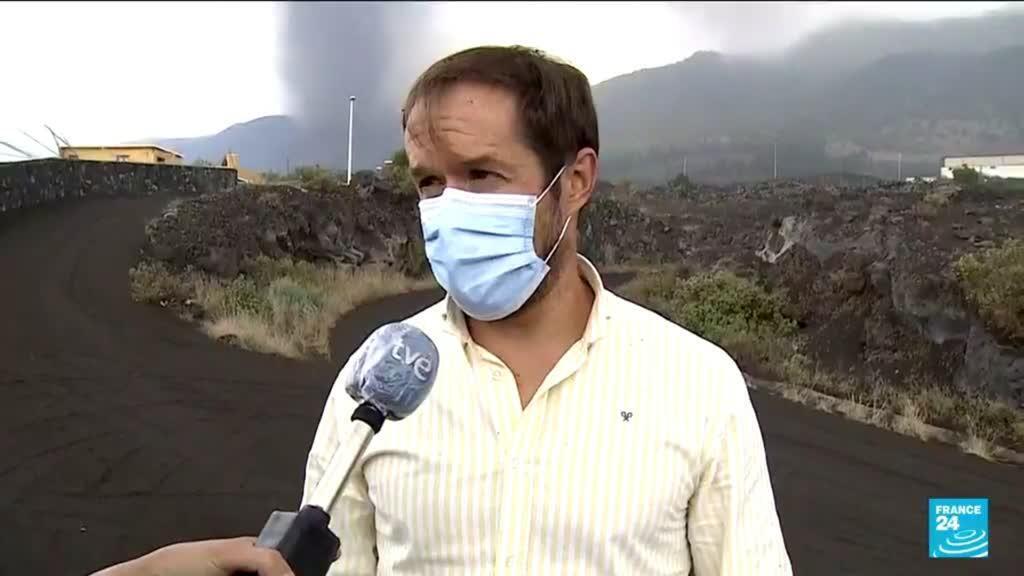 2021-09-22 12:13 Eruption aux Canaries : la lave descend lentement vers la mer, des gaz toxiques redoutés