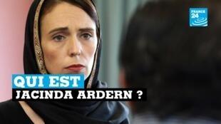 Capture d'écran France 24 (Jacinda Ardern)