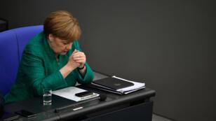 La chancelière allemande, Angela Merkel, le 28 juin 2018 au Bundestag.