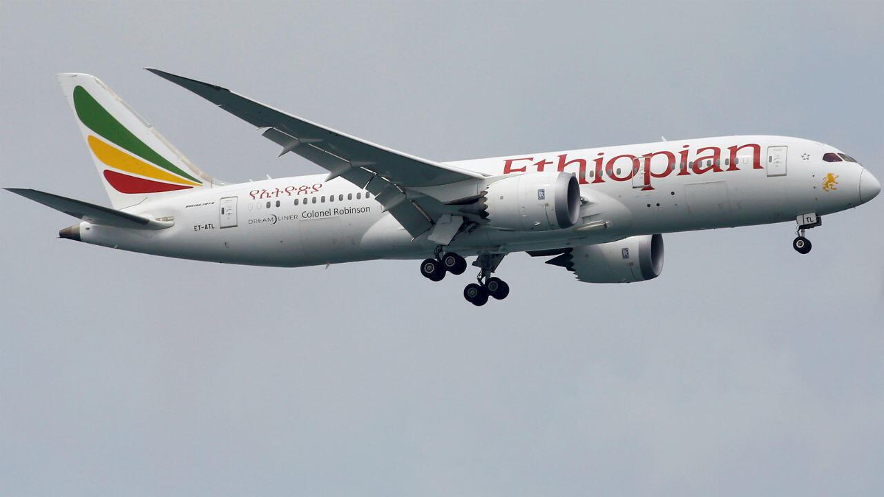 Un Boeing 787-8 Dreamliner de la compagnie Ethiopian Airlines à Singapour, le 10 juin 2018.