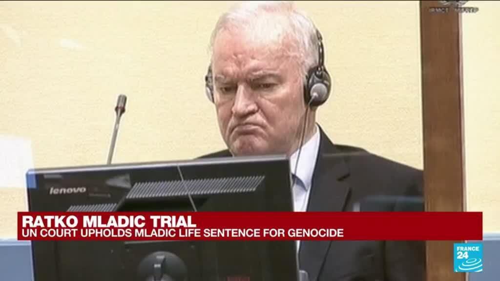 2021-06-08 17:01 UN court upholds Ratko Mladic life sentence for genocide