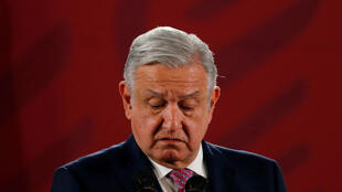 Mexico's President Andres Manuel Lopez Obrador at a news conference at National Palace in Mexico City, Mexico, on November 14, 2019.