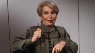Madame Claude en 1986 à Paris. À l'époque, elle était à la tête d'un réseau international de prostitution de luxe.