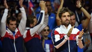 Le capitaine de l'équipe de France de Coupe Davis Arnaud Clément.