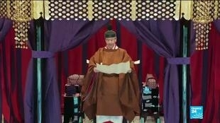 2019-10-22 11:07 Emperor Naruhito of Japan proclaimed his formal ascension to the throne in ancient ritual