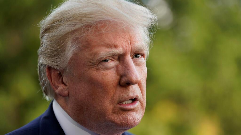 El presidente de Estados Unidos, Donald Trump, a la Casa Blanca el 7 de octubre de 2017.