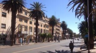 L'avenue principale d'Asmara, capitale de l'Érythrée.
