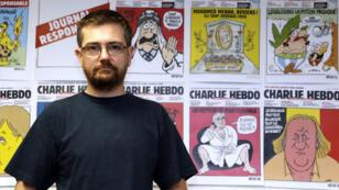 "Charb, l'ancien directeur de ""Charlie Hebdo"", en 2012."