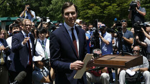 Jared Kushner, à l'issue de son audition, devant la presse, le 24 juillet 2017.