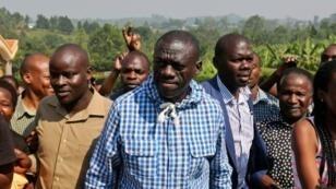 Le principal candidat de l'opposition à la présidentielle en Ouganda, Kizza Besigye, le 18 février 2016.