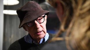 """Woody Allen lors de la présentation de son nouveau film """"Wonder Wheel"""", le 17 novembre, au Musée d'art moderne de New York."""