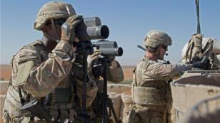 Soldados estadounidenses en Manbij, Siria, en noviembre de 2018.