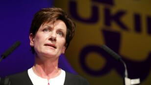 Diane James, présidente du parti pro-Brexit Ukip, a démissionné le 4 octobre.