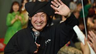Le créateur japonais Kansai Yamamoto en juin 2015 à Tokyo