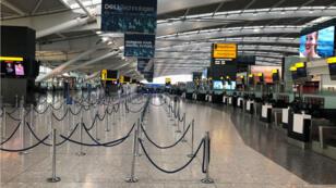 La Terminal 5 del aeropuerto de Heathrow se encuentra vacía después de la huelga de los pilotos de British Airways. 9 de septiembre de 2019.