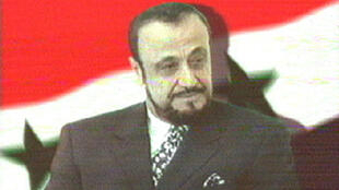Screengrab of Rifaat al-Assad as he appeared on June 12 2000, on the Arab News Network (ANN), which belongs to his son Sumer.
