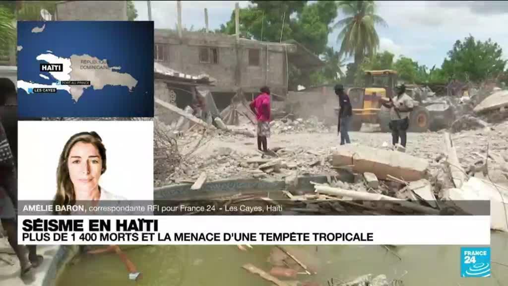 """2021-08-17 08:14 """"Une catastrophe dans la catastrophe"""" : après le séisme, Haïti fait face à une tempête tropicale"""