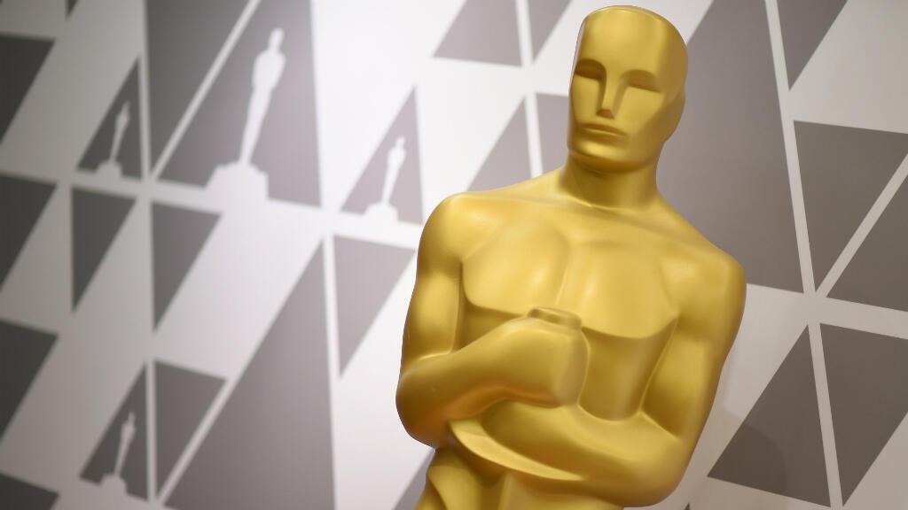 Estatua del Óscar durante los preparativos de la 90° edición anual de los Premios de la Academia en Hollywood, California. 2 de marzo de 2018