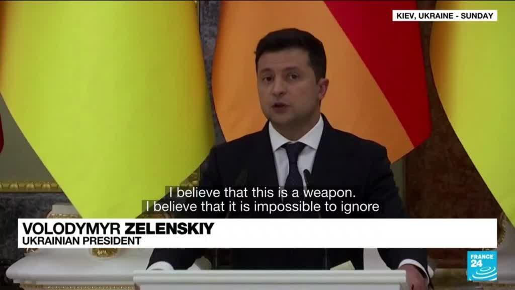 2021-08-23 11:11 Merkel, Ukrainian leader discuss peace efforts, gas pipeline