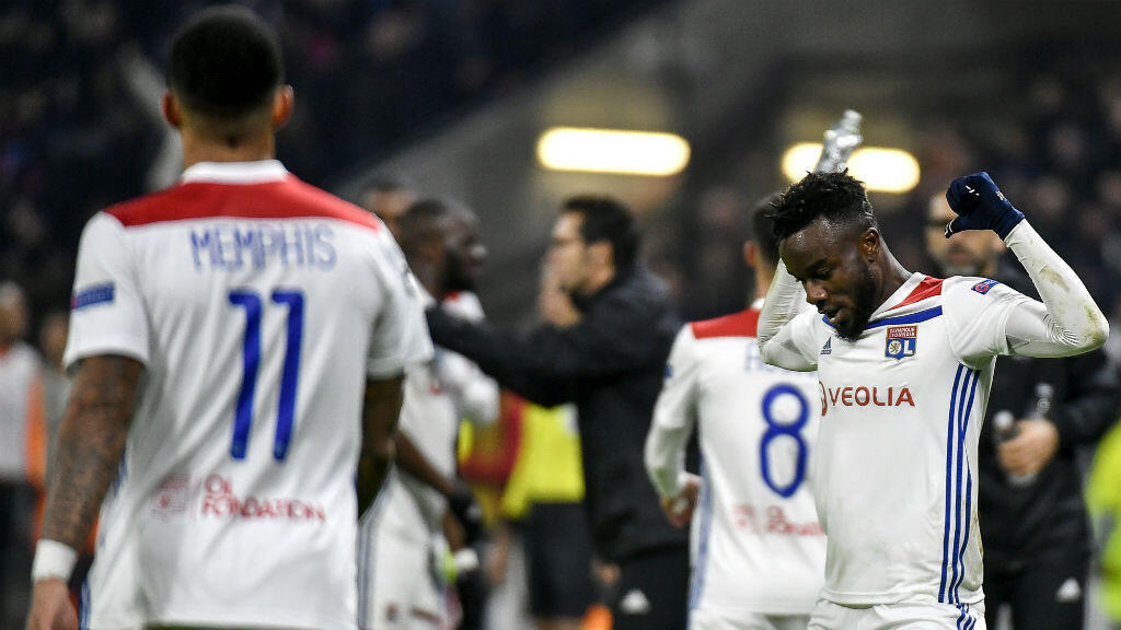 JEFF PACHOUD/AFP | Lyon's Ivorian forward Maxwell Cornet celebrates after scoring a goal during the Champions League Group F match between Olympique Lyonnais and Manchester City in Lyon, France, on November 27, 2018.
