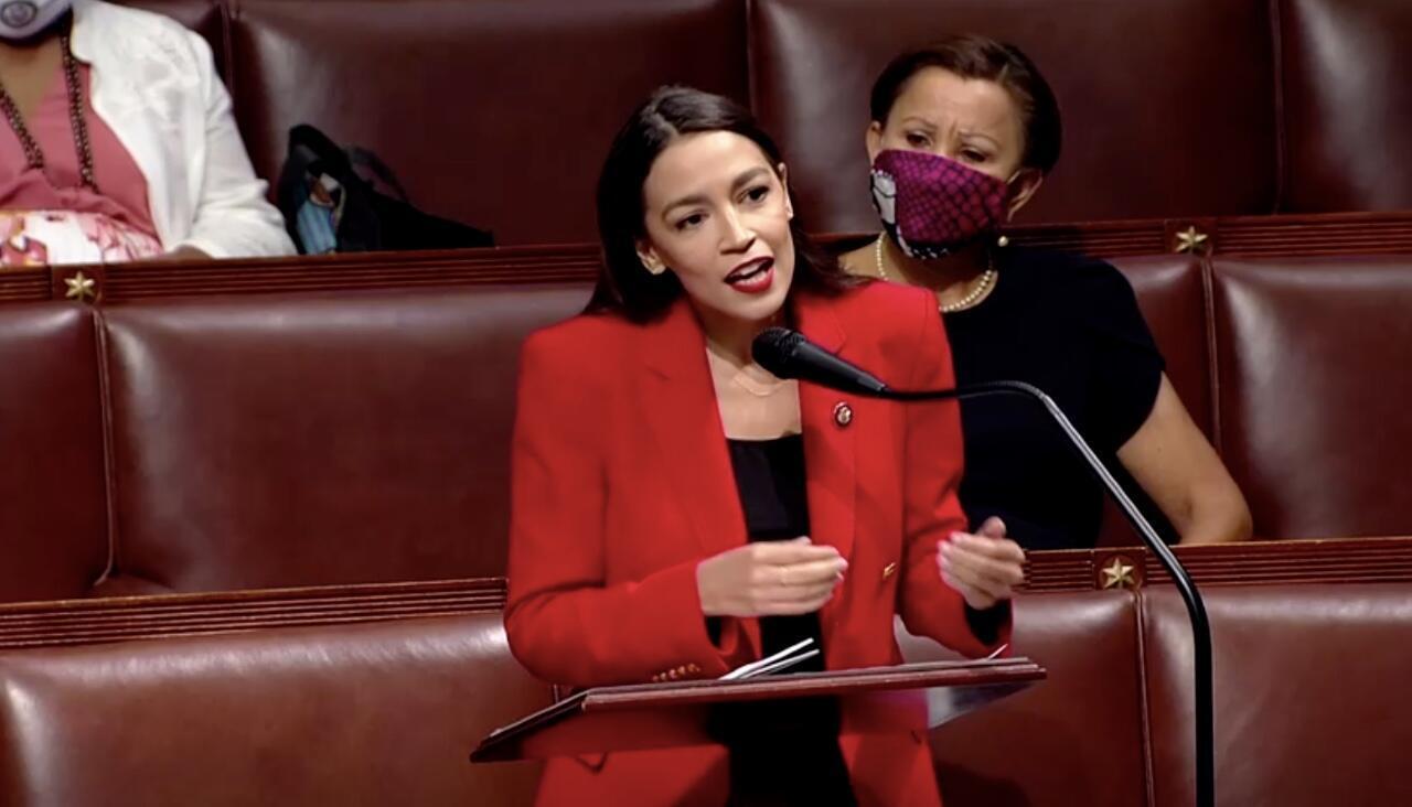 Alexandria Ocasio-Cortez el 23 de julio de 2020 en Washington D.C., Estados Unidos.