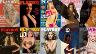 10 unes de l'édition française de Playboy de 1973 à aujourd'hui.