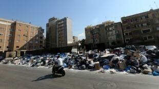 أزمة النفايات في بيروت أغسطس/آب 2015