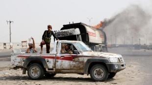 عناصر تابعة للانفصاليين الجنوبيين في عدن. 29 أغسطس/ آب 2019