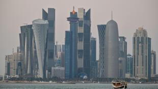 منظر عام للعاصمة القطرية الدوحة في 20 كانون الاول/ديسمبر 2020.