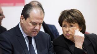 Martine Aubry a annoncé, vendredi 10 avril, qu'elle avait trouvé un accord avec Jean-Christophe Cambadélis pour présenter un texte commun, qui sera soumis au vote des militants le 21 mai.