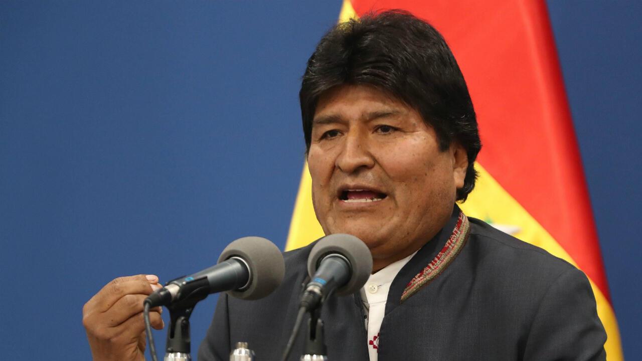 El presidente de Bolivia, Evo Morales, compareció en La Paz este 31 de octubre de 2019 para pedir el cese de la violencia