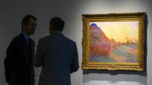 La toile, de 72cm sur 92, fait partie d'une série peinte par Monet durant l'hiver 1890-1891 dans sa maison de Giverny.